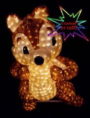 The figures shining light-emitting diode acrylic