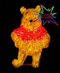 "Figure shining LED acrylic 3D ""Winnie"