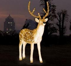 Figures are acrylic, shining, light-emitting diode