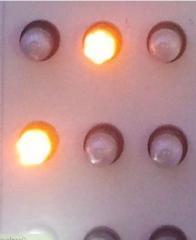 Stroboscope light-emitting diode round 5544