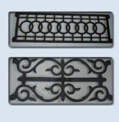 Fences and fencings decorative of cast iron