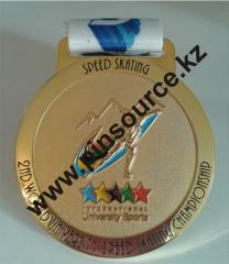 Medals on a tape
