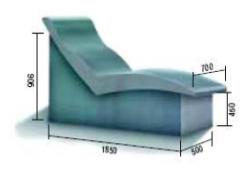 Лежак анатомический №2 из пенополистирола для