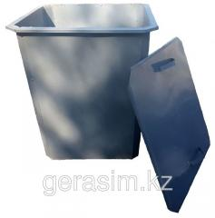 Garbage containers, tanks of 0,75 m / cubic with a