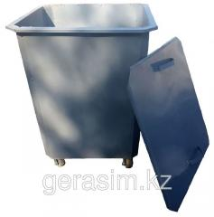 Garbage containers 0,75 a cube, with a cover with