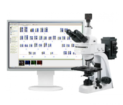 Digital system of the chromosomal analysis by the