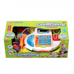Cash desk children's with the scanner and