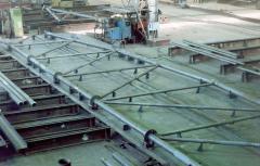 Metal framework for a farm