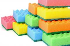 Качественная губка для мытья посуды
