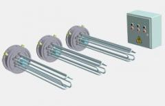 Set of blocks of electric heaters of reservoir