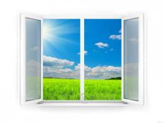 Plastic windows and doors, partitions