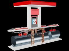 Set automatic pass gas station