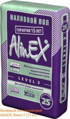 Цементный наливной пол Alinex Level 2