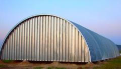 Hangars are arch
