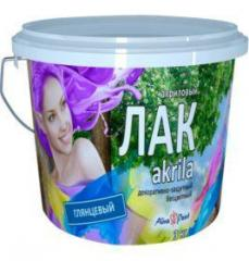 Varnish of Alina Paint Akrila glossy 1 kg