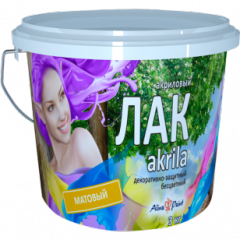 Varnish of Alina Paint Akrila of opaque 3 kg