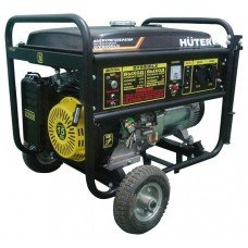 The Huter DY8000LX electric generator with wheels