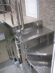 Angular ladder from stainless steel