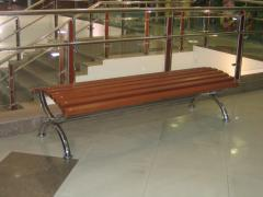 Bench from stainless steel