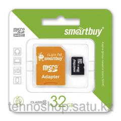 Micro SDHC карта памяти Smartbuy 32GB Class 10 с