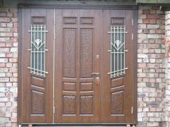 External metal doors