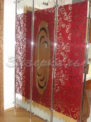 Стекло декоративное в красных тонах