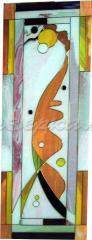 Стекло декоративное оформленное под витраж
