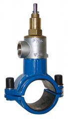 VAG Врезной хомут для ПВХ- (PVC) и ПЭ- (PE-HD) труб, вертикальная врезка