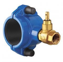 VAG Врезной хомут для ПВХ- (PVC) и ПЭ- (PE-HD) труб, горизонтальная врезка