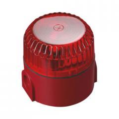 Световой оповещатель в морском исполнении с красным объективом и красной глубокой базой