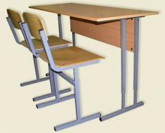 School desk school complete with 2 chairs