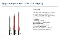 Coupling end POLT 42G/1XI-L20B (800)