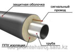 Production of heat-insulating pipes (pp)