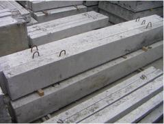 Crossing points are reinforced concrete