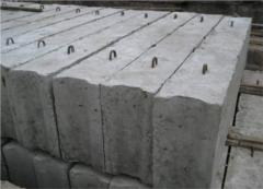 Blocks concrete for walls of cellars