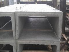 Trays are reinforced concrete