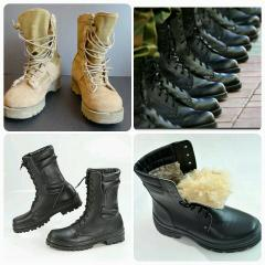 Army boots are leather universal