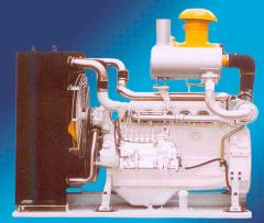 The engine diesel for the concrete pump