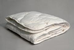 Одеяла из хлопка Двуспальное Евро Сатин Белый
