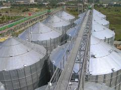 Зернохранилища объемом хранения от 10 тонн до