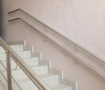 Handrail for schools from a mirror pipe