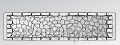 Панель глухая Камень бут