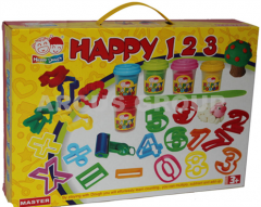 Plasticine in a figure Happy dough box