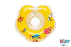 Rubber ring on a neck for swimming of kids of