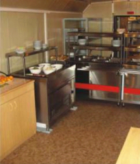 Mobile unit kitchen dinning room on 12 people