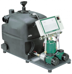Automatic installation of use of rain water with