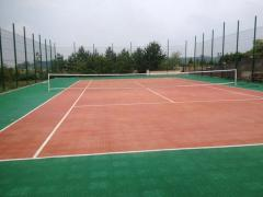 Covering for a tennis cour