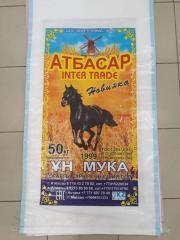 Мука пшеничная хлебопекарная Атбасар, высший, 1 и 2 сорт