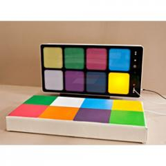 Panel light-sound interactive Musical squares