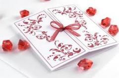 Invitations are wedding